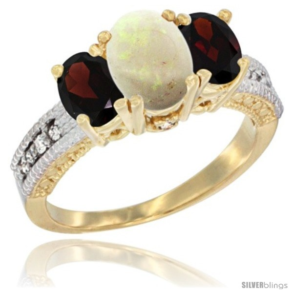 https://www.silverblings.com/53173-thickbox_default/10k-yellow-gold-ladies-oval-natural-opal-3-stone-ring-garnet-sides-diamond-accent.jpg