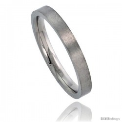 Titanium 3mm Flat Wedding Band / Thumb Ring Matte finish Comfort-fit