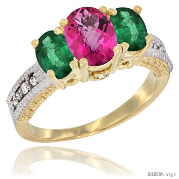 https://www.silverblings.com/54345-thickbox_default/14k-yellow-gold-ladies-oval-natural-pink-topaz-3-stone-ring-emerald-sides-diamond-accent.jpg