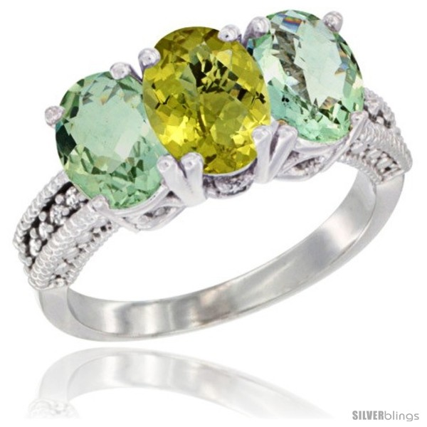 https://www.silverblings.com/54578-thickbox_default/10k-white-gold-natural-lemon-quartz-green-amethyst-sides-ring-3-stone-oval-7x5-mm-diamond-accent.jpg
