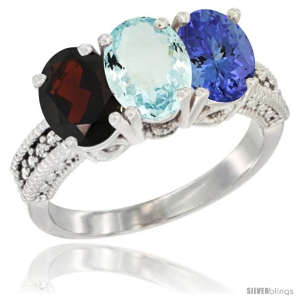 https://www.silverblings.com/5491-thickbox_default/14k-white-gold-natural-garnet-aquamarine-tanzanite-ring-3-stone-7x5-mm-oval-diamond-accent.jpg