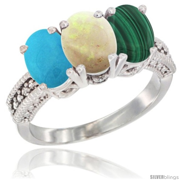 https://www.silverblings.com/55045-thickbox_default/14k-white-gold-natural-turquoise-opal-malachite-ring-3-stone-7x5-mm-oval-diamond-accent.jpg