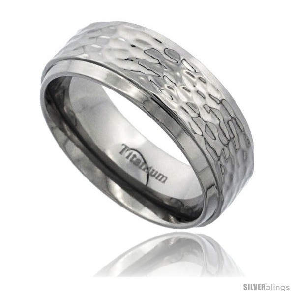 https://www.silverblings.com/55176-thickbox_default/titanium-8mm-flat-wedding-band-ring-polish-hammered-finish-beveled-edges-comfort-fit.jpg