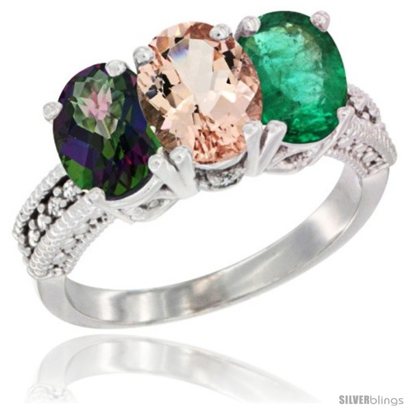 https://www.silverblings.com/55598-thickbox_default/10k-white-gold-natural-mystic-topaz-morganite-emerald-ring-3-stone-oval-7x5-mm-diamond-accent.jpg