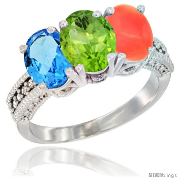 https://www.silverblings.com/55801-thickbox_default/10k-white-gold-natural-swiss-blue-topaz-peridot-coral-ring-3-stone-oval-7x5-mm-diamond-accent.jpg