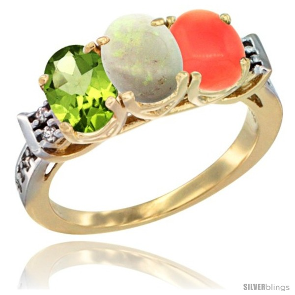 https://www.silverblings.com/56084-thickbox_default/10k-yellow-gold-natural-peridot-opal-coral-ring-3-stone-oval-7x5-mm-diamond-accent.jpg