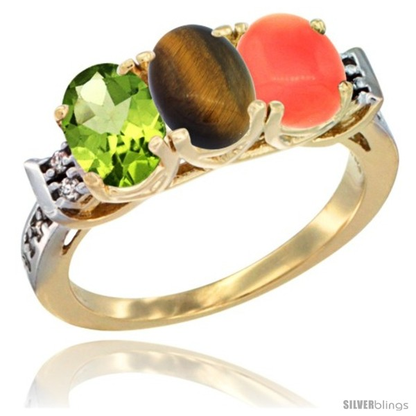 https://www.silverblings.com/56285-thickbox_default/10k-yellow-gold-natural-peridot-tiger-eye-coral-ring-3-stone-oval-7x5-mm-diamond-accent.jpg