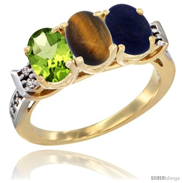 https://www.silverblings.com/56287-thickbox_default/10k-yellow-gold-natural-peridot-tiger-eye-lapis-ring-3-stone-oval-7x5-mm-diamond-accent.jpg