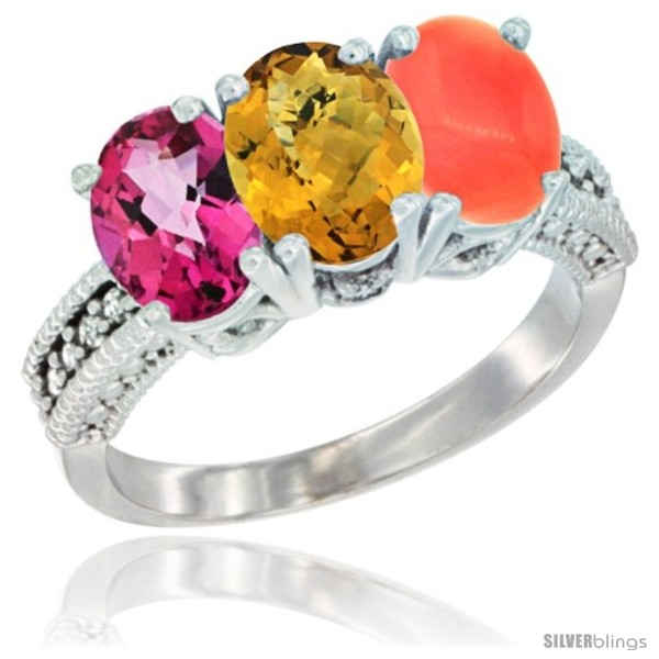 https://www.silverblings.com/56559-thickbox_default/14k-white-gold-natural-pink-topaz-whisky-quartz-coral-ring-3-stone-7x5-mm-oval-diamond-accent.jpg