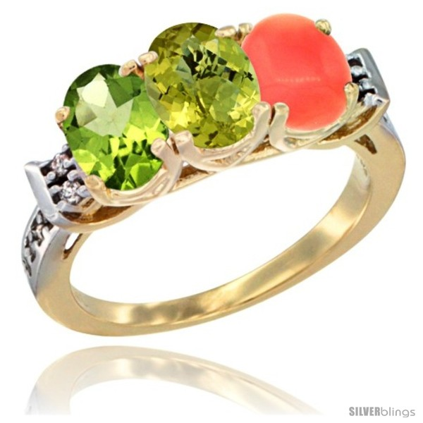 https://www.silverblings.com/56666-thickbox_default/10k-yellow-gold-natural-peridot-lemon-quartz-coral-ring-3-stone-oval-7x5-mm-diamond-accent.jpg