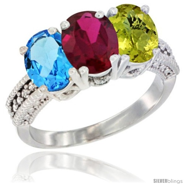 https://www.silverblings.com/57360-thickbox_default/10k-white-gold-natural-swiss-blue-topaz-ruby-lemon-quartz-ring-3-stone-oval-7x5-mm-diamond-accent.jpg