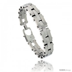 Stainless Steel Men's Pantera Bracelet 1/2 in wide, 8 in long