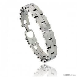 Stainless Steel Men's Pantera Bracelet 1/2 in wide, 8 in long