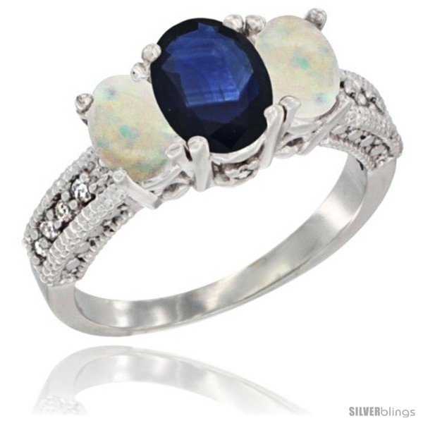 https://www.silverblings.com/57864-thickbox_default/14k-white-gold-ladies-oval-natural-blue-sapphire-3-stone-ring-opal-sides-diamond-accent.jpg
