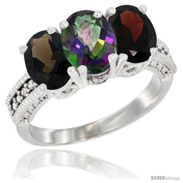 https://www.silverblings.com/57938-thickbox_default/14k-white-gold-natural-smoky-topaz-mystic-topaz-garnet-ring-3-stone-7x5-mm-oval-diamond-accent.jpg