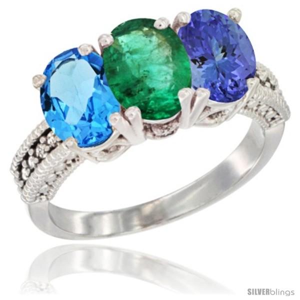 https://www.silverblings.com/57966-thickbox_default/10k-white-gold-natural-swiss-blue-topaz-emerald-tanzanite-ring-3-stone-oval-7x5-mm-diamond-accent.jpg
