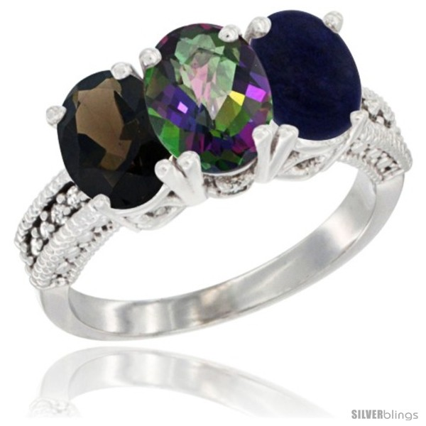 https://www.silverblings.com/58334-thickbox_default/14k-white-gold-natural-smoky-topaz-mystic-topaz-lapis-ring-3-stone-7x5-mm-oval-diamond-accent.jpg