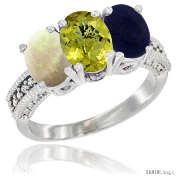 https://www.silverblings.com/58660-thickbox_default/14k-white-gold-natural-opal-lemon-quartz-lapis-ring-3-stone-7x5-mm-oval-diamond-accent.jpg