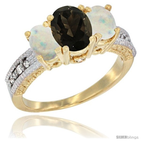 https://www.silverblings.com/58795-thickbox_default/14k-yellow-gold-ladies-oval-natural-smoky-topaz-3-stone-ring-opal-sides-diamond-accent.jpg