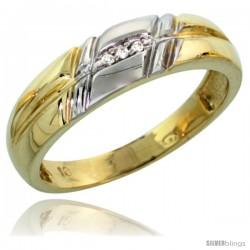 10k Yellow Gold Ladies' Diamond Wedding Band, 7/32 in wide -Style Ljy105lb