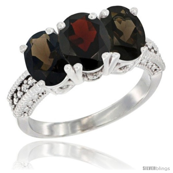 https://www.silverblings.com/58893-thickbox_default/14k-white-gold-natural-garnet-smoky-topaz-ring-3-stone-7x5-mm-oval-diamond-accent.jpg