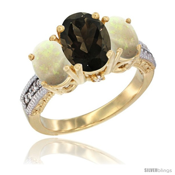 https://www.silverblings.com/58953-thickbox_default/14k-yellow-gold-ladies-3-stone-oval-natural-smoky-topaz-ring-opal-sides-diamond-accent.jpg