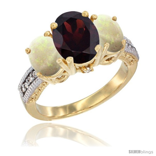 https://www.silverblings.com/58983-thickbox_default/14k-yellow-gold-ladies-3-stone-oval-natural-garnet-ring-opal-sides-diamond-accent.jpg