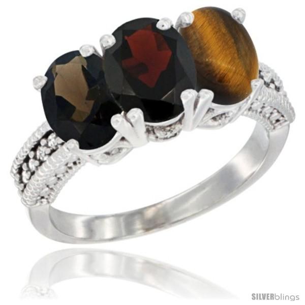 https://www.silverblings.com/59334-thickbox_default/14k-white-gold-natural-smoky-topaz-garnet-tiger-eye-ring-3-stone-7x5-mm-oval-diamond-accent.jpg
