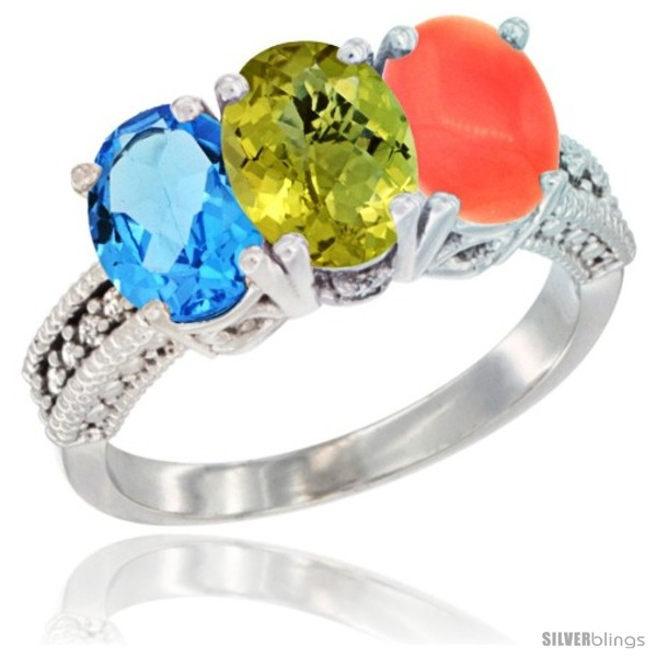 https://www.silverblings.com/59482-thickbox_default/10k-white-gold-natural-swiss-blue-topaz-lemon-quartz-coral-ring-3-stone-oval-7x5-mm-diamond-accent.jpg