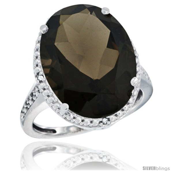https://www.silverblings.com/59538-thickbox_default/14k-white-gold-diamond-smoky-topaz-ring-13-56-carat-oval-shape-18x13-mm-3-4-in-20mm-wide.jpg