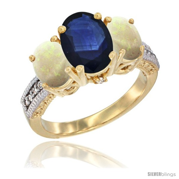 https://www.silverblings.com/59678-thickbox_default/14k-yellow-gold-ladies-3-stone-oval-natural-blue-sapphire-ring-opal-sides-diamond-accent.jpg