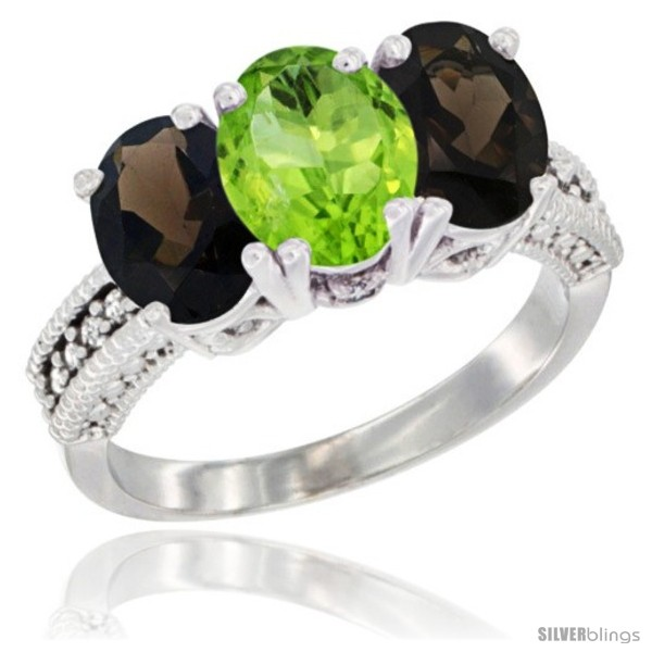 https://www.silverblings.com/59710-thickbox_default/14k-white-gold-natural-peridot-smoky-topaz-ring-3-stone-7x5-mm-oval-diamond-accent.jpg