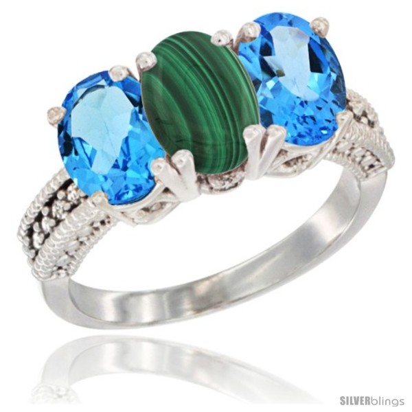 https://www.silverblings.com/59814-thickbox_default/10k-white-gold-natural-malachite-swiss-blue-topaz-sides-ring-3-stone-oval-7x5-mm-diamond-accent.jpg