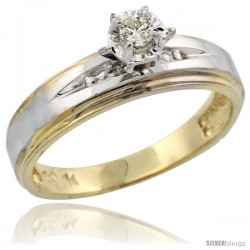 10k Yellow Gold Diamond Engagement Ring, 3/16 in wide -Style Ljy113er
