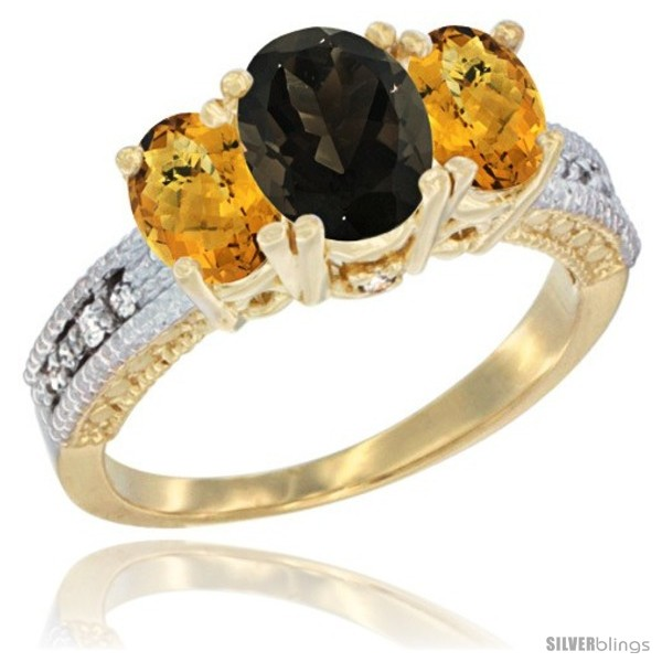 https://www.silverblings.com/60389-thickbox_default/14k-yellow-gold-ladies-oval-natural-smoky-topaz-3-stone-ring-whisky-quartz-sides-diamond-accent.jpg