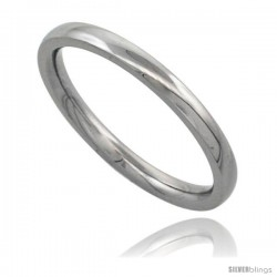 Surgical Steel 2mm Domed Wedding Band Thumb / Toe Ring Comfort-Fit High Polish