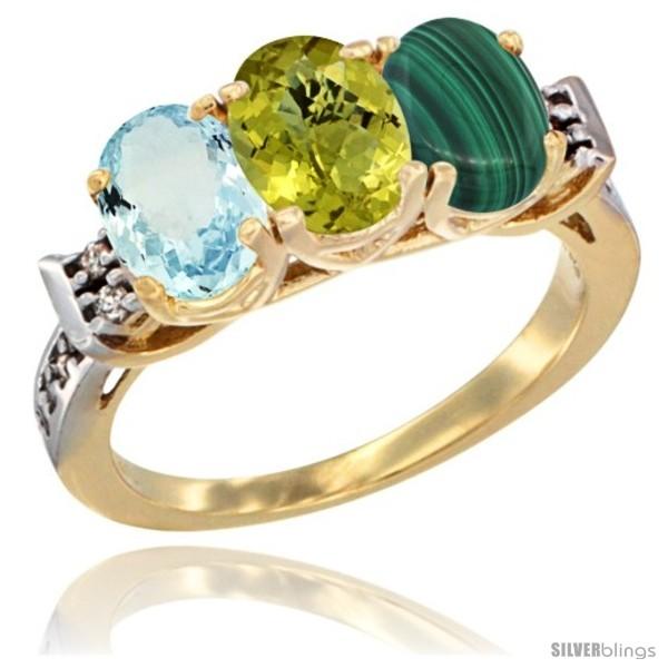 https://www.silverblings.com/60403-thickbox_default/10k-yellow-gold-natural-aquamarine-lemon-quartz-malachite-ring-3-stone-oval-7x5-mm-diamond-accent.jpg