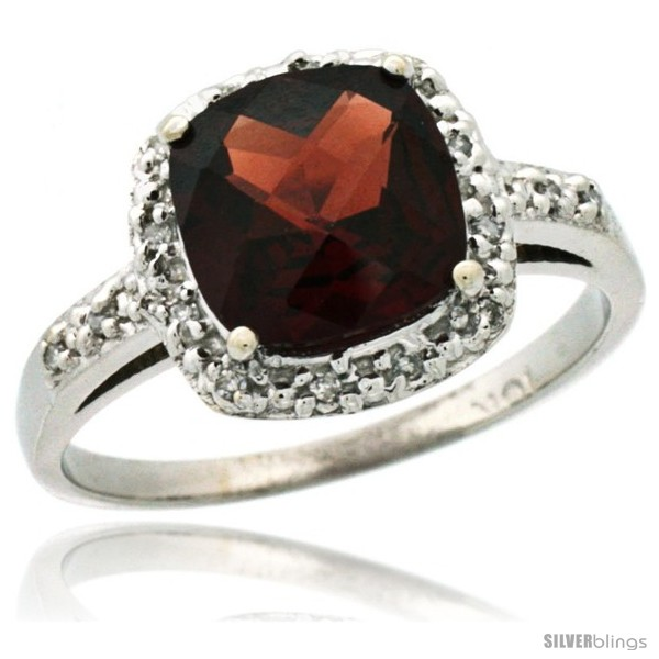 https://www.silverblings.com/6048-thickbox_default/14k-white-gold-diamond-garnet-ring-2-08-ct-cushion-cut-8-mm-stone-1-2-in-wide.jpg
