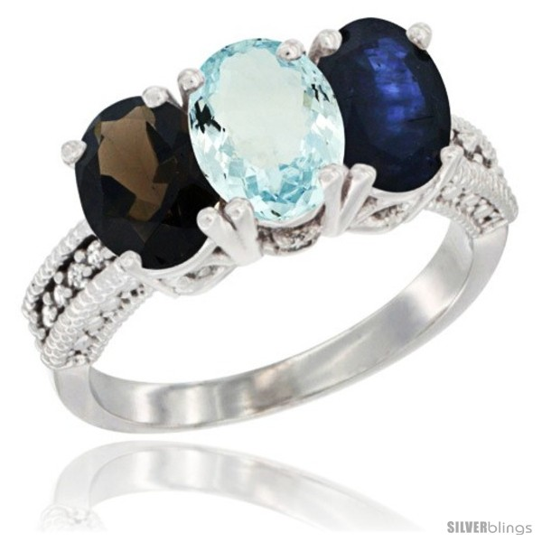 https://www.silverblings.com/60492-thickbox_default/14k-white-gold-natural-smoky-topaz-aquamarine-blue-sapphire-ring-3-stone-7x5-mm-oval-diamond-accent.jpg