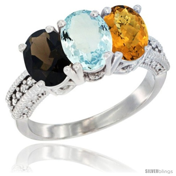 https://www.silverblings.com/60511-thickbox_default/14k-white-gold-natural-smoky-topaz-aquamarine-whisky-quartz-ring-3-stone-7x5-mm-oval-diamond-accent.jpg