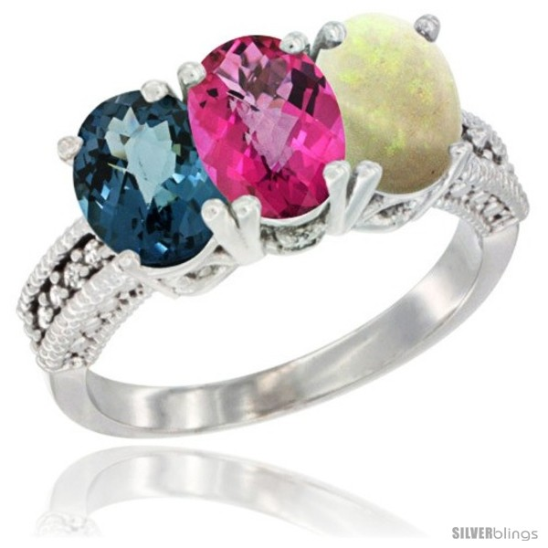 https://www.silverblings.com/60517-thickbox_default/10k-white-gold-natural-london-blue-topaz-pink-topaz-opal-ring-3-stone-oval-7x5-mm-diamond-accent.jpg