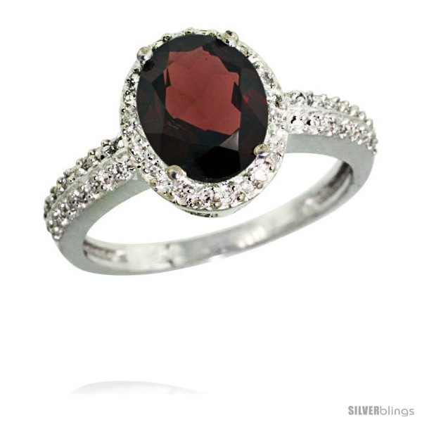 https://www.silverblings.com/6066-thickbox_default/14k-white-gold-diamond-garnet-ring-oval-stone-9x7-mm-1-76-ct-1-2-in-wide.jpg