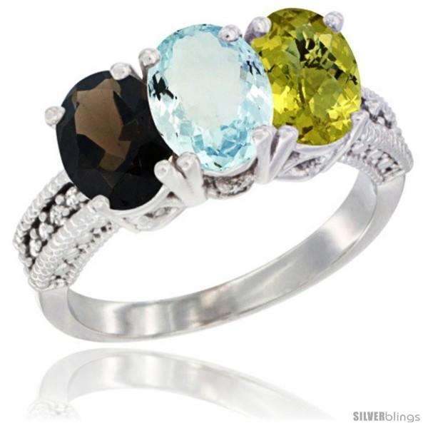https://www.silverblings.com/60702-thickbox_default/14k-white-gold-natural-smoky-topaz-aquamarine-lemon-quartz-ring-3-stone-7x5-mm-oval-diamond-accent.jpg