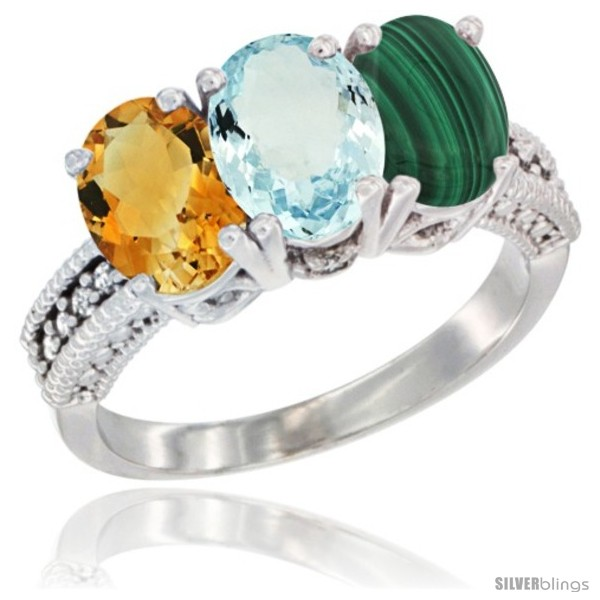 https://www.silverblings.com/60782-thickbox_default/10k-white-gold-natural-citrine-aquamarine-malachite-ring-3-stone-oval-7x5-mm-diamond-accent.jpg