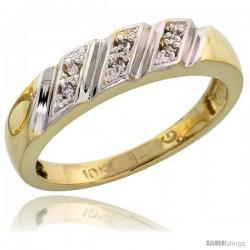 10k Yellow Gold Ladies' Diamond Wedding Band, 3/16 in wide -Style Ljy116lb