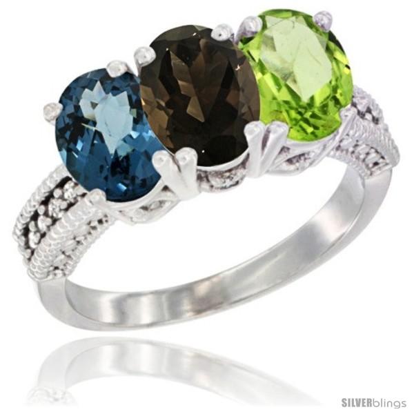 https://www.silverblings.com/60925-thickbox_default/10k-white-gold-natural-london-blue-topaz-smoky-topaz-peridot-ring-3-stone-oval-7x5-mm-diamond-accent.jpg