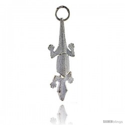 Sterling Silver Large Movable Crocodile Pendant