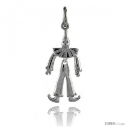 Sterling Silver High Polished Movable Clown Pendant -Style P3131