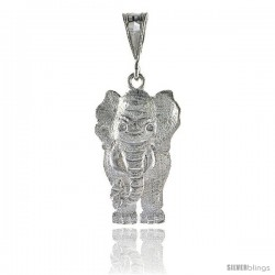 Sterling Silver Large Movable Elephant Pendant