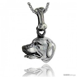Sterling Silver Labrador Retriever Dog Pendant -Style Pa1007